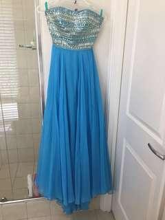 Sherri Hill 1539 Strapless Ball Prom Gown Dress Size US 2