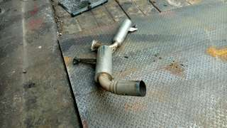 Lancer EX hks exhaust pipe