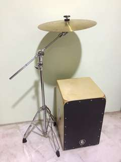 CAJON & CRASH CYMBAL(WITH STAND)