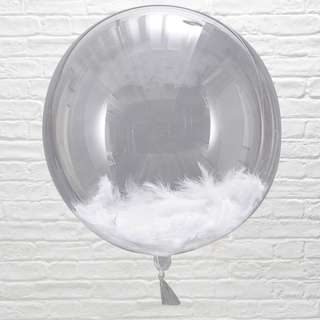 White Feathers for Balloons