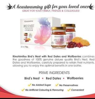 Perfect Gift Kinohimitsu Bird's Nest with Red Dates and Wolfberries 6s