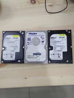160GB Hard Disk x 3