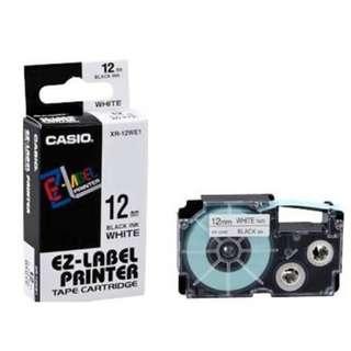 Casio 12mm & 9mm White EZ Label Printer Tape XR-12WE1