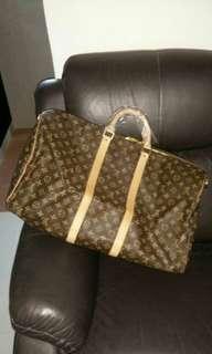 *REDUCED* Authentic Louis Vuitton Monogram Keepall 55 Travel Bag Crossbody Long Strap (M41414)