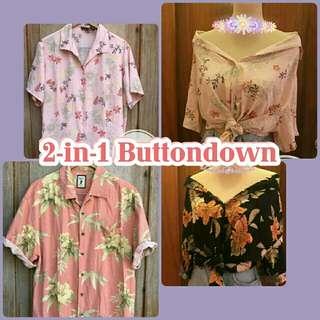 2-in-1 Summer Floral Buttondown