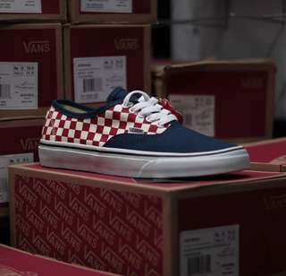 Vans Authentic Checkerboard Navy/Red