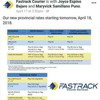 Fastrack rate