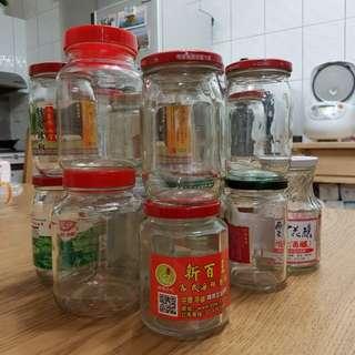 42個玻璃瓶子.已清洗消毒過.可用來醃漬東西用.限台中市大里區自取