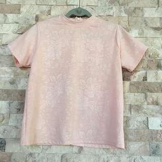Pink necky blouse
