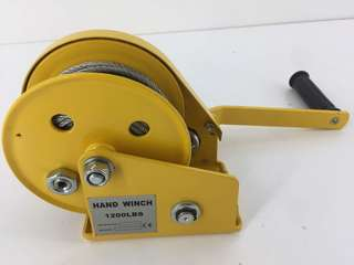 Hand ATV Boat Heavy Door Winch 1200LBS Yellow