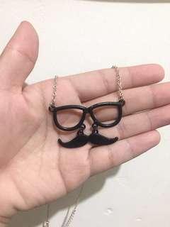 Claire's Mustache Necklace