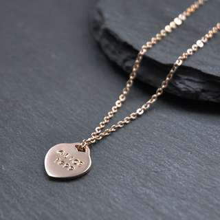 Hand-stamped Heart Charm | Lucy Locket Necklace