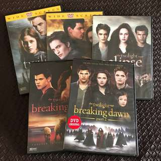 1 SET - DVD Twilight Saga (Twilight, New Moon, Eclipse, Breaking Dawn pt 1&2)