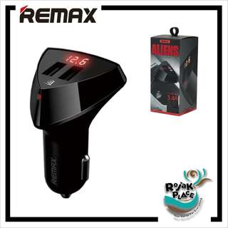 REMAX RCC208 2-Ports Car Charger with LED Display