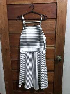 H&M Divided Striped Spaghetti Dress