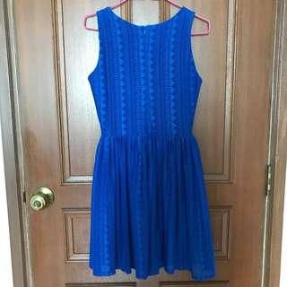 Hollyhoque Royal Blue Dress
