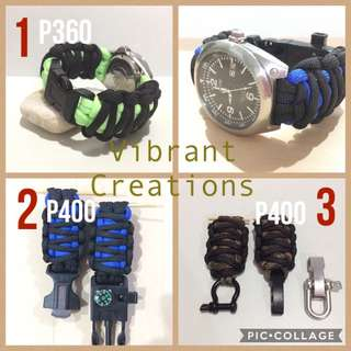 King cobra paracord watch strap for garmin divers and others