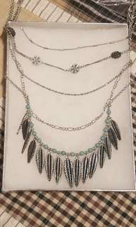 Silver Vintage Multi-Layered Necklace