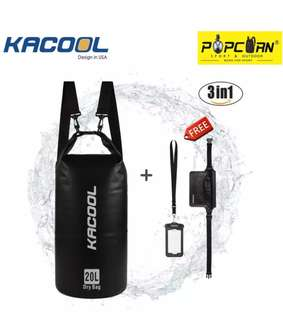 Kacool Dry Bag 20 L with free waterproof cp case and belt pouch