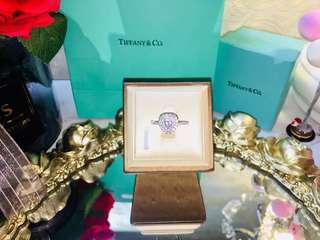 T&co heart shape diamond ring