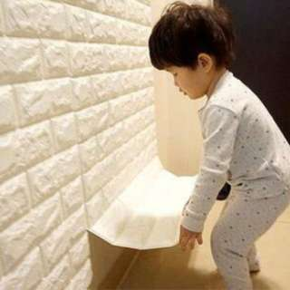 3D bricks wallpaper - ready stock