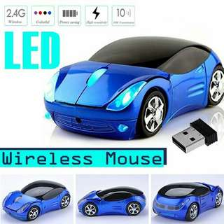 OPTICAL WIRELESS MOUSE CAR SHAPE GAMING MICE WITH usb