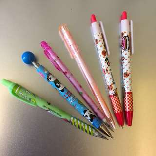 [BN] Set Of 5 Mechanical Pencil & 1 Pen