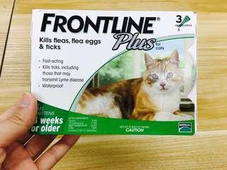 Frontline Plus for cat  買多左一盒 2020過期
