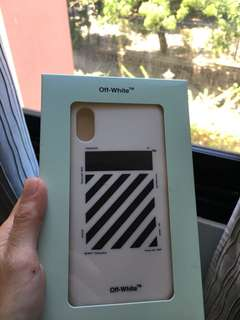 Off-white IPhone X case