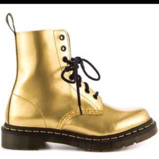 SALE!!! Doc Martens Pascal Gold Boots