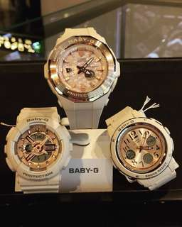 NEW 🌟ARRIVAL BABYG DIVER CASIO SPORTS WATCH : 1-YEAR OFFICIAL WARRANTY: 100% AUTHENTIC BABY-G-SHOCK RESISTANT in PINK BLOSSOM ROSE-GOLD BEST FOR MOST ROUGH USERS: BGA-225CP / BGA-150CP / BA-110CP / BA-110 / BA110
