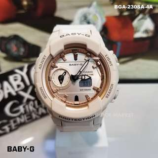 NEW 🌟ARRIVAL BABYG DIVER SPORTS WATCH : 1-YEAR OFFICIAL WARRANTY: 100% AUTHENTIC BABY-G-SHOCK RESISTANT in PINK BLOSSOM ROSE-GOLD BEST FOR MOST ROUGH USERS: BGA-230SA-4ADR / BGA230SA / BGA-230 / BGA230 CASIO