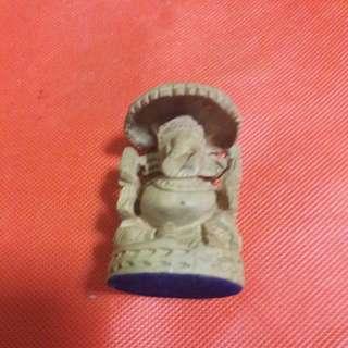 Wood Crafted Elephant God - 7cm