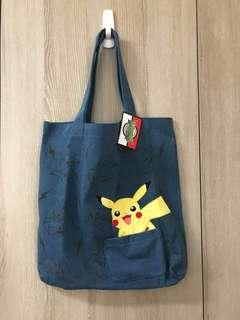 🚚 (現貨)日本 Toreba Akiba 景品 神奇寶貝 寶可夢 皮卡丘 手提袋 雙面 含吊牌雷標