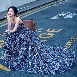 Midnight Blue Evening Gown