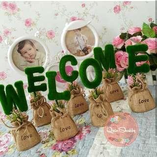 Minigrass WELCOME vas karung