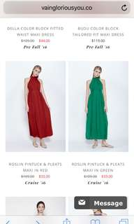Vgy maxi dress red
