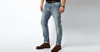 Jeans denim selvedge uniqlo not levis wrangler
