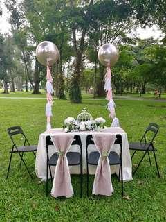 Solemnisation Table Rental Package