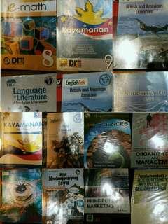 SHS-ABM, GR 10/9/8 BOOKS FOR SALE