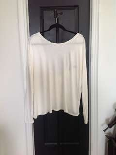 BCBG - Beige Top with Open Back