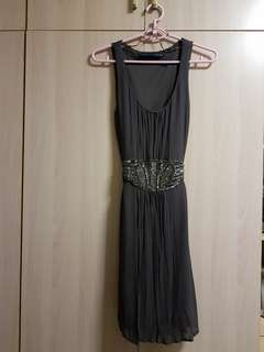 Zara tie back dress with sequin waist