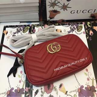 Gucci Medium Camera Bag- hibiscus red