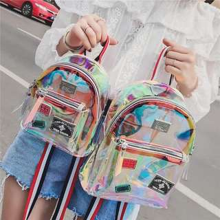✨CHIC✨ Olivia Holographic Rainbow Horizon Blend Backpack Bag