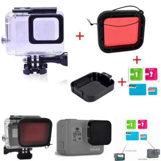 GoPro Hero 5 6 Waterproof Case Value Set