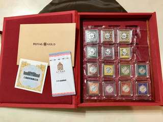 [珍藏]限量版中華龍郵故宮銀磚 Antique Collection 999 Silver Bricks Stamps China Forbidden City -999純銀 1套14枚118g