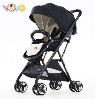 (售出)【VOVO】高景觀 嬰兒手推車 挑高型56cm 單手收放 加強多重避震 輕巧提拿 僅重