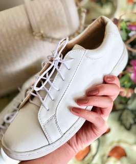 REPRICED! Size 5-6 Classic White Sneakers