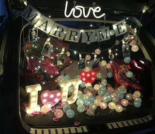 Car boot propose set marry me 求婚