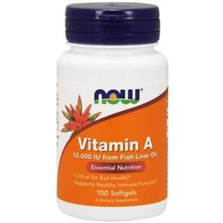 In Stock Now Foods, Vitamin A, 10,000 IU, 100 Softgels
